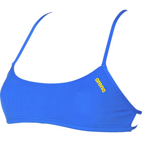 arena Play Bandeau Top Mujer, pix blue-yellow star